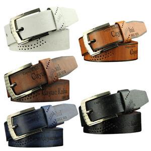 Men Vintage Leather Casual Jean Belt Pin Buckle Waist Strap Belts Waistband New