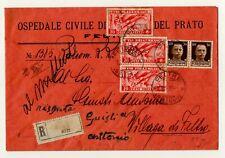 1936 REGNO RACCOMANDATA AFFRANCATURA MULTIPLA TORNATA MITTENTE
