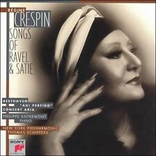 REGINE CRESPIN SONGS OF RAVEL & SATIE  Tough To Find Brand New Factory Sealed CD