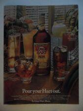 1981 Print Ad Lemon Hart Rum ~ Pour Your Heart Out