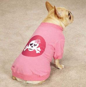 Zack & Zoey Skull-Fari Dog T-Shirt Tee Pink Skull Hibiscus Top Pet  XXS - XL
