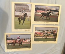 #TT.  FOUR HORSE RACING POSTERS - BURST, BETTER LOOSEN UP, SCHILLACI, VO ROGUE