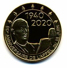 52 COLOMBEY 80 ans de l'Appel du Général de Gaulle, 2020, Monnaie de Paris