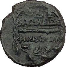 Philip V King of Macedon 221BC Ancient Greek Coin Bearded Hercules Flute i44339