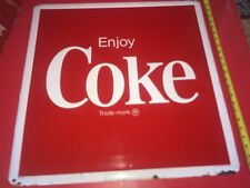 1980's Vintage USA Nice COCA COLA Tin Embossed advertising sign coke soda pop
