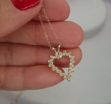 1/3 Carat Heart Diamond Pendant 14K Fine Jewelry Girlfriend Anniversary