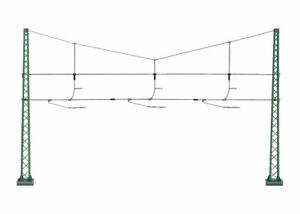 NEW MARKLIN 74131 HO GAUGE CATENARY CROSS SPAN ASSEMBLY QUERTRAGWERK 3 TRACKS