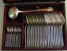 Ménagère Ercuis 37 Pièces Style Empire en Argent Plaqué Silver Silber