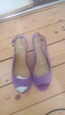 Suede Shoes Wedge Heel Sling Backs size 5