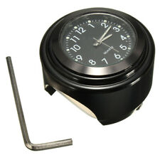 22-25mm Motorcycle Bike Handlebar Mount Black Dial Clock Watch For Harley New