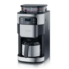 Severin KA4812 Kaffeeautomat mit Mahlwerk 1000W Thermokanne Edelstahl-Schwarz