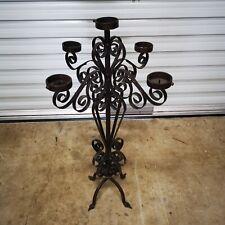 Candelabra Candle Holder Vintage Wrought Iron