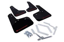 Rally Armor Mud Flaps Guards for 12-18 Focus ST SE RS Hatch (Black w/Red Logo)