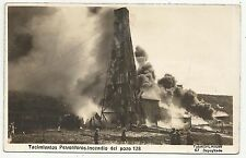 POSTCARDS-BOLIVIA-RP. Oil Field Fire at Pozo 128.