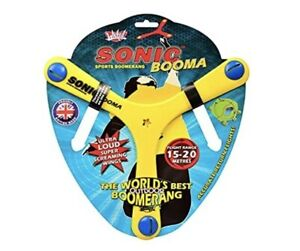 Sonic Booma Flying Sports Toy. Tri blade returning boomerang. Yellow.