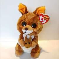 "Kipper the Kangaroo - Ty Beanie Boo Plush - Style 37226- Regular 6"" 15cm - NEW"