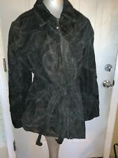 Leather Works Patchwork Leather Jacket Coat Women's Size XXXL