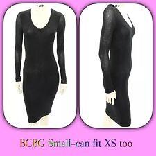 BCBG Max Azria Black Knit Scoop Neck Tori Sheath Dress Size (S)-XS-See Details