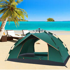 Family Camping Tent Single Layer 3-4 Person Outdoor Tourist Waterproof Tents