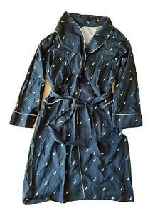 Nautica Men's Bathrobe Sleepwear Long Navy Sailboats Robe  Belted XL/L