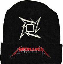 Metallica Wool Hat Black Beanie Knit Ninja Star Logo James Hetfield Ulrich