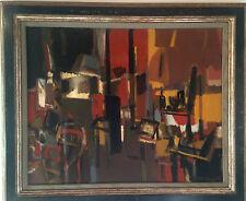 Grande huile sur toile de Jean Cornu(1915-2009).(ami de Mouly),Chevolleau,Venard