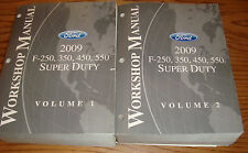 2009 Ford F-250 350 450 550 Super Duty Shop Service Manual Volume 1 2 Set 09