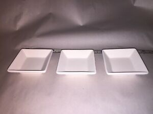 Lot of 3 small squared glass fusing draping slump molds