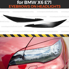 Eyelids Eyebrows on headlights for BMW X6 E71 broad covers brows ABS plastic