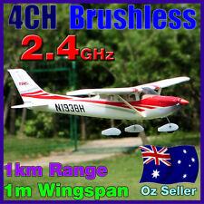 RTF RC 4CH Cessna 182 Electric LiPo Brush-less Plane Airplane Digital Radio Red
