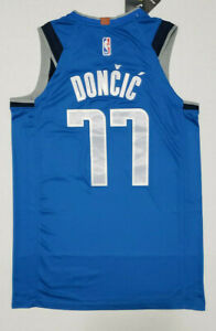 New Rare Luka Doncic Dallas # 77 Blue Swingman Men's Jersey Limited  NWT