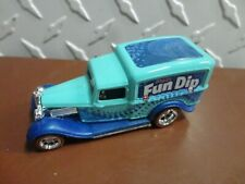 Loose Hot Wheels Teal Fun Dip 1934 Dodge Delivery Truck w/Real Rider Wheels