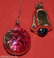 alter Christbaumschmuck Weihnachtsschmuck 2 Kugeln Glockenblume + Kugel m. Stern