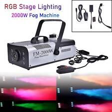 2000W Smoke Fog Machine 6 LED RGB DJ Stage Light Remote Fogger Ceremony Wedding