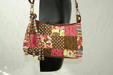 Donna Sharp Small Cross Body Purse Bag Clutch Patchwork Floral Removable Strap
