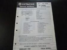 Original Service Manual Schaltplan Hitachi D-1100M