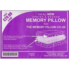 A Pair Of Luxury Spring & Bounce Memory Foam Pillows