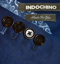 36S Indochino SLIM Moonrock Blue SUIT Flat Front 34