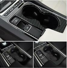 Carbon Fiber Water Cup Holder Cover Trim For Jaguar XF XE XJ F-PACE F-TYPE A5