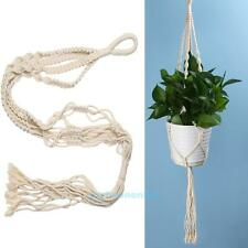 1X Plant Hanger Macrame Jute Rope Hanging Pots Basket Planter Holder Balcony