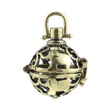 Gold/Silver Hollow Elephant Open Locket Ball Pendant DIY Essential Oil Diffuser