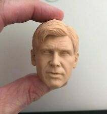 Custom INDIANA JONES 1/6 UNHATTED HEAD SCULPT for Hot Toys figure