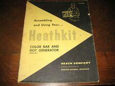 Heathkit Color Bar and Dot Generator Model CD-1 Assembly Manual, 7/6/59