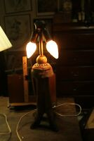 "Antique Deer Leg Lamp Oddity Marble Glass Ornament 21"" No Shade"