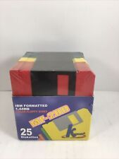 New Sealed KHypermedia MF-2HD 3.5  Inch 1.44 IBM Formatted Diskettes  25-Pack