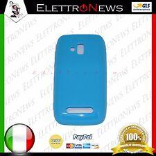 Custodia Cover TPU per Nokia Lumia 610 blu