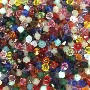 1000pcs Mix 2/3/4/5/6/8mm Swarovski Crystal bicone beads #5301 Fashion Jewelry