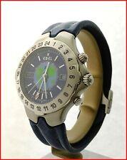 EBEL Sportwave Meridian WorldTime GMT E9122641 Automatic 40mm Steel Mens Watch