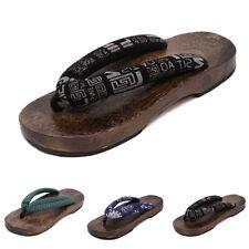 Мужские японские Гэта сабо шлепки вьетнамки деревянные тапочки туфли США 9-12