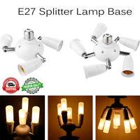 Adjustable Bulb Socket Adapter E27 Splitter Lamp Base Converter Light Holder